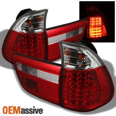 $197.99 • Buy Fits 00-06 BMW E53 X5 Sport SUV Red Clear LED Tail Lights Brake Lamps Left+Right