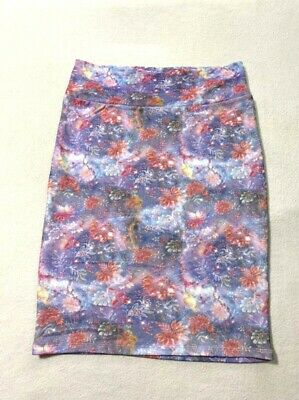 £14.48 • Buy Lularoe XL Cassie Skirt Purple Pink Galaxy Watercolor Floral Textured Stretchy