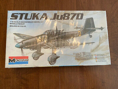 $24.99 • Buy Monogram Stuka Ju87D 1:48 Model Kit - New In Plastic