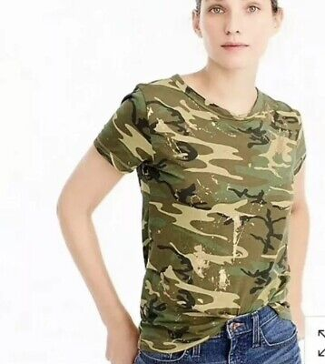 $25.99 • Buy J.Crew Glitter Camouflage Camo Gold Top T-Shirt  Size XL