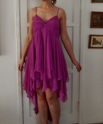 $15 • Buy Aidan Mattox New With Tags Orchid Chiffon High Low Formal Cocktail Dress Size 12