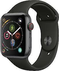 $ CDN324.34 • Buy Apple Watch Series 4 44 Mm Space Gray Aluminium Case With Black Small SportBand