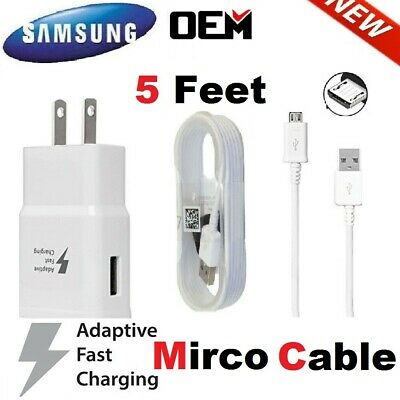 $ CDN10.09 • Buy Original Samsung Galaxy S7 S6 J7 Edge Note 5 4 OEM Adaptive Fast Rapid Charger