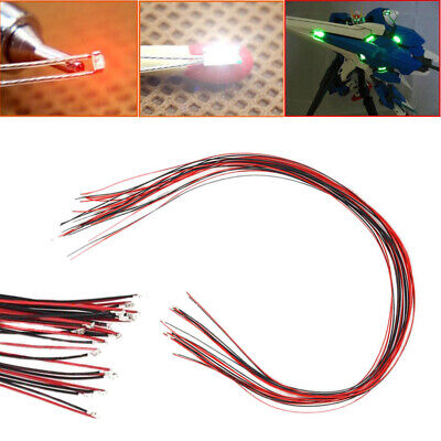 $4.83 • Buy 10 X 0402 Pre-soldered Micro Litz Wired Leads Red SMD Led Lamp 200mm Long