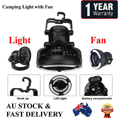 AU18.99 • Buy 2 In 1 18 LED Camping Ceiling Fan Light Hang Tent Lamp Lantern Outdoor Portable