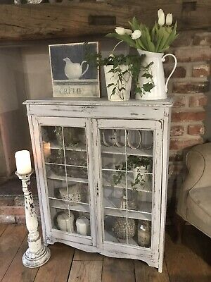 Shabby Chic Bookcase/Display Cabinet In Annie Sloan • 125£