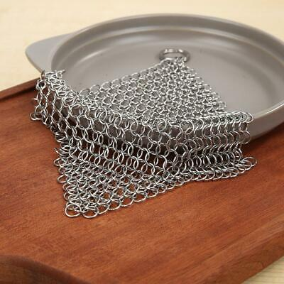$ CDN16.66 • Buy Metal Cast Iron Brush Pot Net Stainless Steel Chainmail Ring Scrubber Home Tools