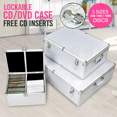 AU39.99 • Buy Aluminium CD Case DVD Case Bluray Lock Storage Case Box 240/500/1000 Discs
