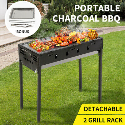 AU69.99 • Buy Charcoal BBQ Grill Protable Hibachi Outdoor Barbecue Set Camping Picnic Grills