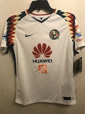 $30 • Buy Youth Nike Dri Fit Club America Soccer Jersey Youth Large L White Nwt $75