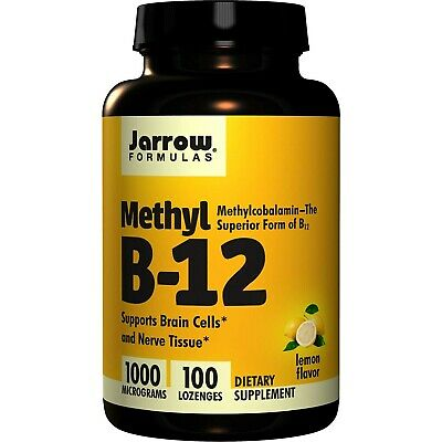 Jarrow Formulas B12 Methylcobalamin 1000 Mcg Methyl Lozenges Supports Brain • 5.61£