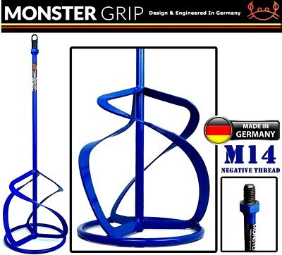HD Mixing Paddle 120/140/160mm X 600mm M14 Mixer  Whisk Plaster Mortar Paint  • 17.95£
