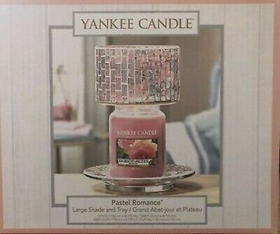 Yankee Candle Pastel Romance Large Shade And Tray BNIB. Perfect Valentine Gift • 32.50£