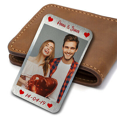 £4.90 • Buy Valentines Anniversary Wedding Gift Wallet Insert Gift For Him Her Personalised