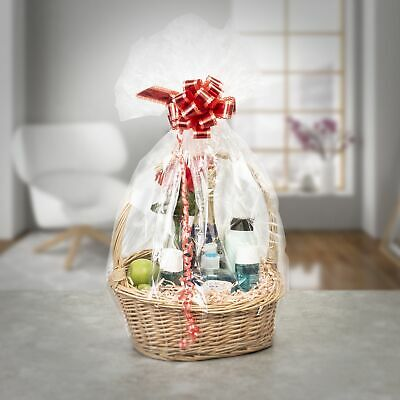 £11.99 • Buy Woodluv Create Your Own Round Wicker Gift Hamper Basket With Handle For Christma