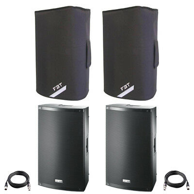 £734 • Buy 2x FBT X-LITE 10A 10  2000W Powered Active PA Speaker Or Monitor +Leads +Covers