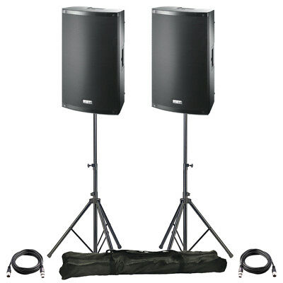 £694 • Buy 2x FBT X-LITE 10A 10  2000W Powered Active PA Speaker Stage Disco Band + Stands