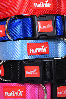 2 YEAR GUARANTEE RUFF RUFF Neoprene Padded 4 6 Foot Dog Lead Or Collar Colours!! • 2.99£
