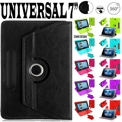 (Seven) 7  Inch Amazon Fire Alexa Kindle Leather 360° & Stand Case Cover Pouch • 5.44£