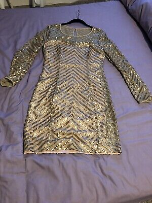 Guess Gold Lace And Sequin Dress. Only Worn Twice. In Excellent Condition £9 • 9£