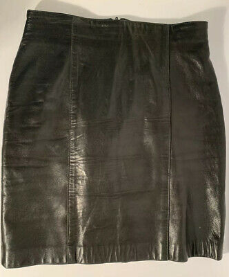 $ CDN45 • Buy Vintage Black Danier Leather Mini Skirt Size 6- Made In Canada
