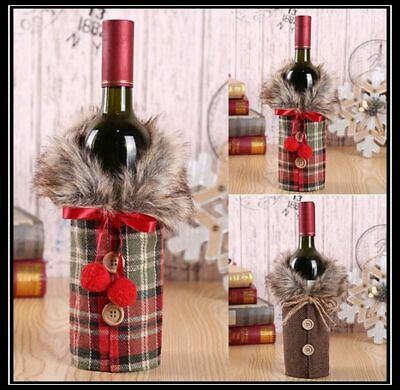 2X Fancy Santa Claus Outfit Christmas Wine Bottle Bag Cover Xmas Table Decor NEW • 3.74£