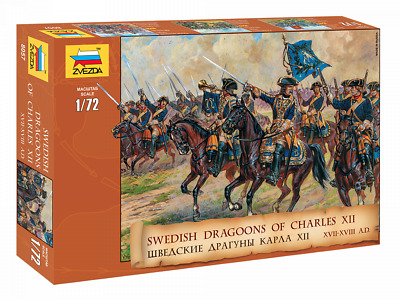 Plastic Toy Soldiers Northern War Swedish Dragoons XVIIl Scale 1:72 ZVEZDA • 10.85£