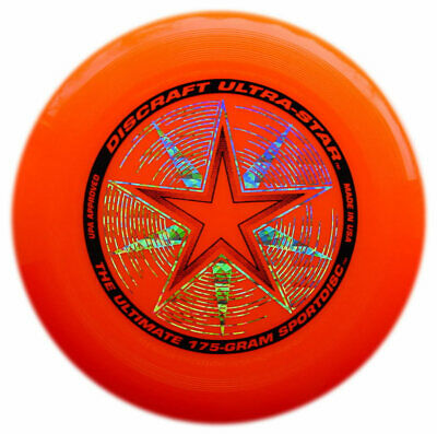 Discraft Ultrastar Ultimate Flying Outdoor Frisbee Disc Orange 175g Kids Adults • 15.99£