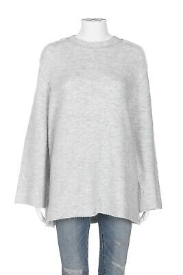 $27 • Buy ZARA KNIT Light Gray Sweater Size Large Oversized Long Flared Sleeve Top