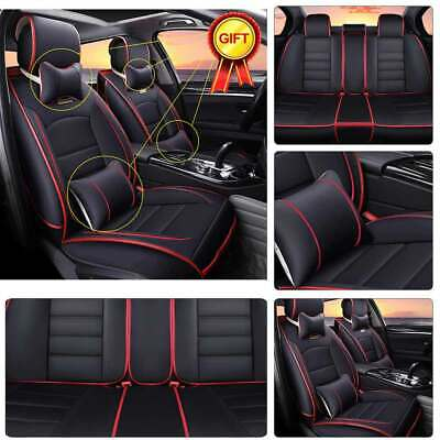 AU95.23 • Buy 11× Luxury 5-Sit Car Seat Cover SUV PU Leather Universal Cushion Car Accessories