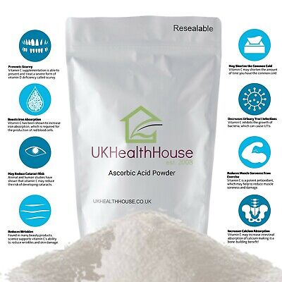 100% Pure Ascorbic Acid - Vitamin C Powder - 250g - Anti Oxidant - Food Grade • 4.71£