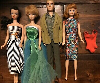 $ CDN191.87 • Buy VINTAGE BARBIEs DOLL FROM 1960'. Ponytail. Bubblecut,Ken,Midge. Vintage Clothes!