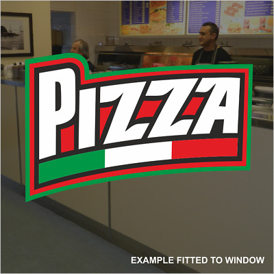Pizza Italian Flag Catering Window Sticker Cafe Shop Restaurant Sign Vinyl Decal • 5.79£