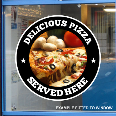 Pizza Take Away Catering Window Sticker Cafe Shop Restaurant Sign Vinyl Decal • 5.79£