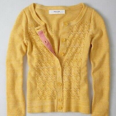 $ CDN12.59 • Buy Anthropologie Pointelle Perk Cardigan From Sparrow, XS