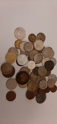 49 Mixed Foreign Coins, Europe And World • 1£