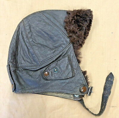 Ww1 Rfc Flying Helmet   Leather Untouched Original  • 185£