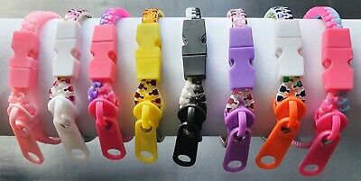 £4.99 • Buy 8 X Zipper Bracelets 2 Tone & Solid Colour Collectable Fun Girls Gift Party Bag