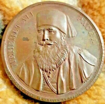£1495 • Buy Egypt/GB Mehemet Ali Pasha, The Overland Route To India Preserved 1840 Medal