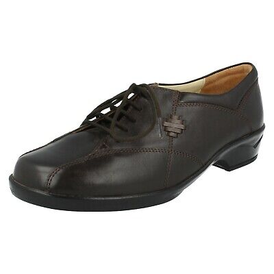 Ladies 4E's By Equity Leather Lace Up 4E Wide Fit Shoes : Nora EX-DISPLAY • 19.99£
