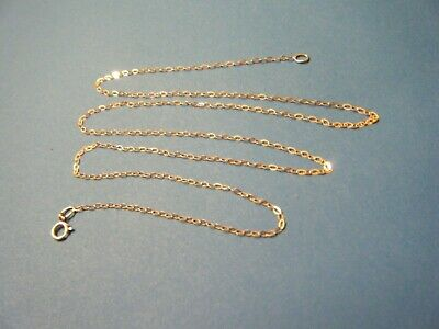 9ct Gold Trace Chain, Brand New, 20   Long, 1.2mm Wide, 375 Mark On Bolt Ring.  • 3.20£