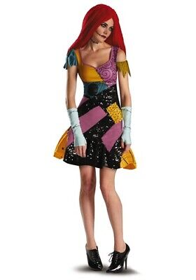 $42.99 • Buy Sally Glam Nightmare Before Christmas Costume SIZE L  (missing Wig)