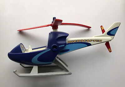 Playmobil Microcopter Press Helicopter 4423 Toy Blue White Excellent • 8.50£