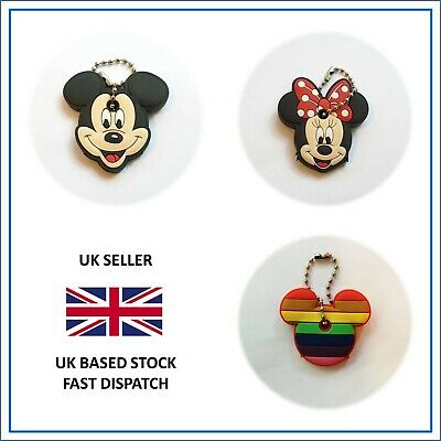Mickey Minnie Mouse Rainbow Key Ring Cap Cover Bag Charm Party Favour Gift • 4.99£