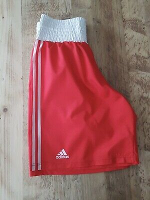 Adidas Boxing Shorts And Vest Medium Red Competition • 12.99£