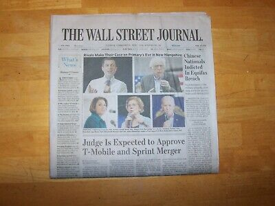 $6 • Buy The Wall Street Journal  2/11/20~ Democratic Open Mic