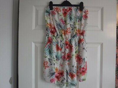UK Womens Summer Beach Wear  Playsuit Ladies Beach Cover Up Size 12 New Look • 2.20£