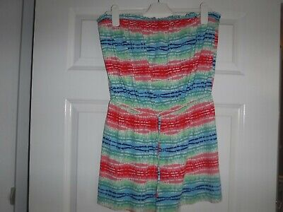 UK Womens Summer Beach Wear  Playsuit Ladies Beach Cover Up Size 14  • 2£