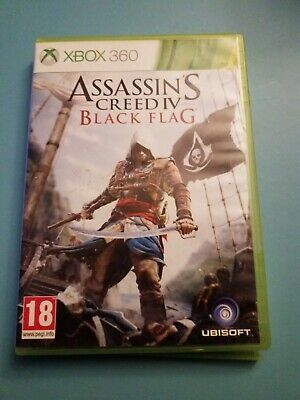 ASSASSIN'S CREED BLACK FLAG  (Microsoft Xbox 360, 2013) - PAL - WITH MANUAL • 0.99£