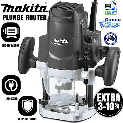 AU199.97 • Buy Makita Electric Plunge Router 1650W Power Corded MT Series Tool 12.7mm 1/2  M360